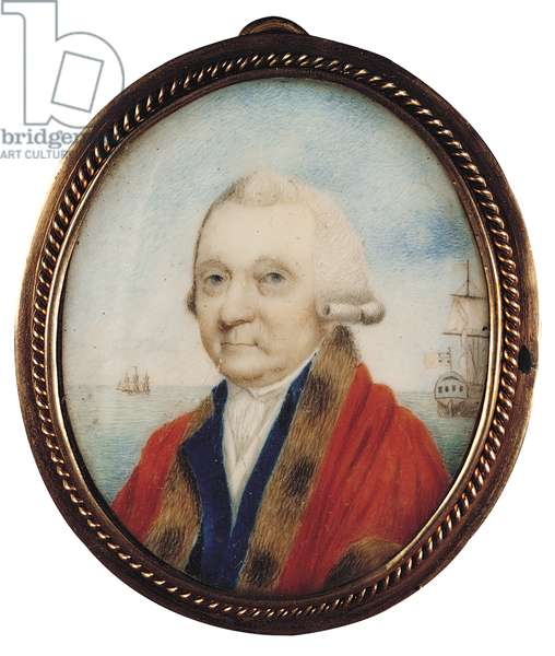 Miniature Portrait of Sir Samuel Standidge (1725-1801), c.1795 (gouache on ivory)