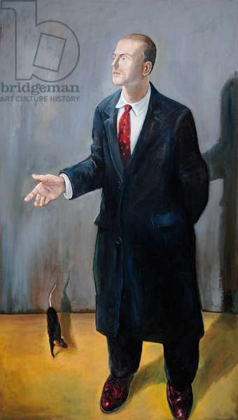 Man with a Rat, 1986 (oil on canvas)