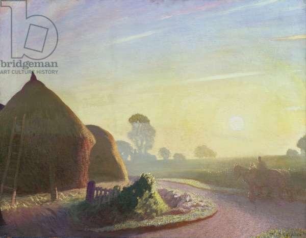 Sunrise in September, 1924 (oil on canvas)