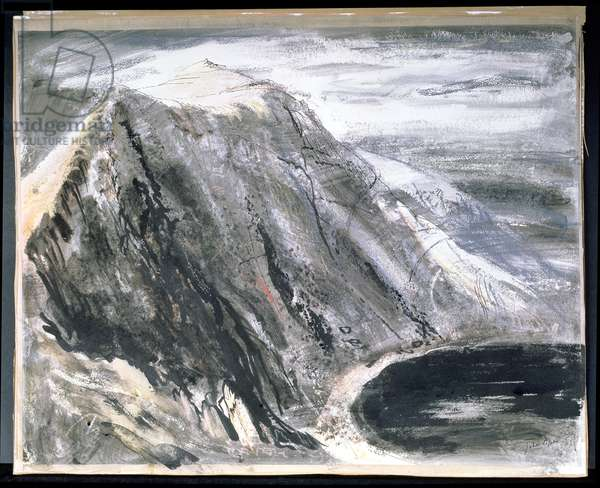 Marchlyn Mawr, Wales, c.1947-48 (w/c, pen and ink on paper)