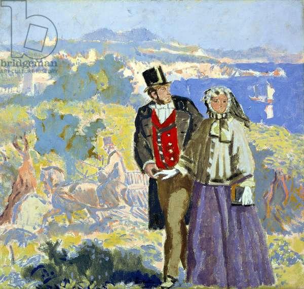 Idyll (oil on canvas)