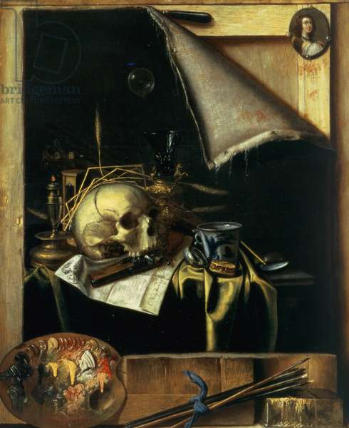 Vanitas (Still Life - Trompe l'Oeil) 1664 (oil on canvas)
