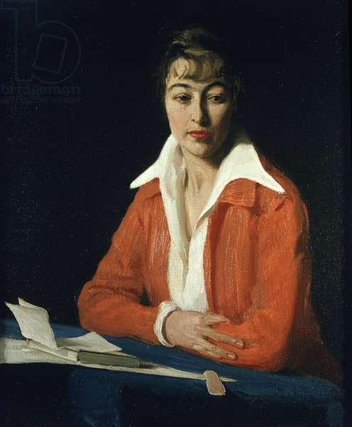 Portrait of Miss Maude Nelke, c.1914 (oil on canvas)