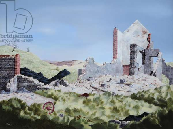 Derelict Lead Mine, 1940s (oil on canvas)