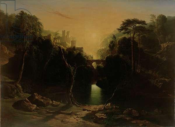 Romantic Landscape, 1820 (oil on canvas)