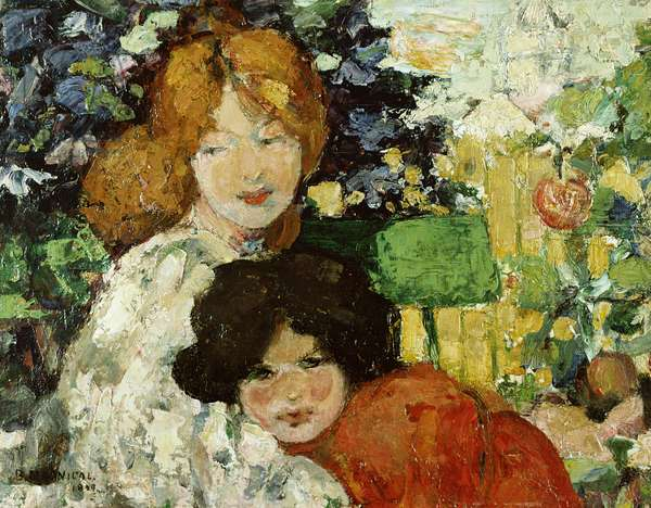 Two Sisters, 1899 (oil on panel)