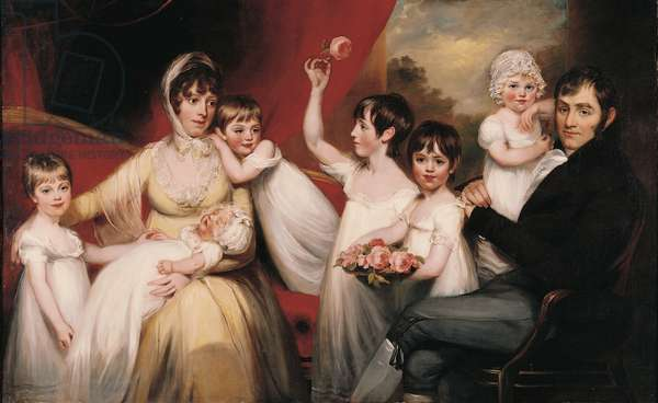 John Lee and his Family, c.1800 (oil on canvas)