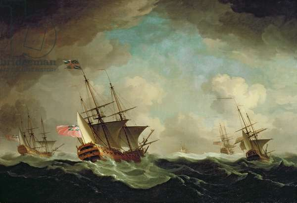 A Squadron Going to Windward, c.1750 (oil on canvas)