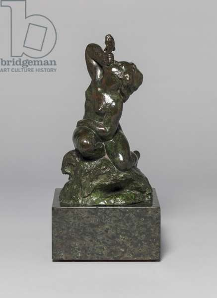 Figure for a Fountain (Kneeling Boy with Fish), c.1905 (bronze & marble)