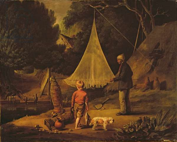 The Eel Catcher, 1812 (oil on canvas)