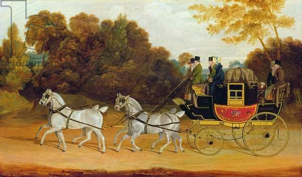 'The Wellington Coach' (The Newcastle-York-London Mail), c.1818 (oil on panel)