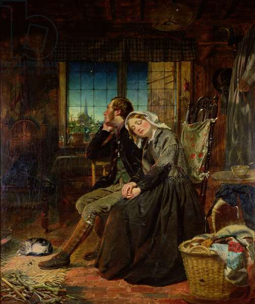 The Vacant Cradle, 1858 (oil on canvas)