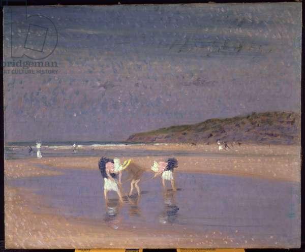 Boulogne Sands, Children Shrimping, 1891 (oil on canvas)