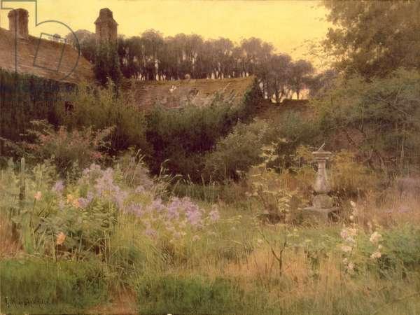 Where the Forgotten Garden Lies Asleep (oil on canvas)