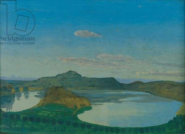 The Blue Pool, 1911 (oil on panel)