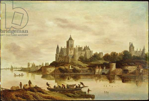 View of Het Valckhof, Nijmegen, 1650s (oil on panel)