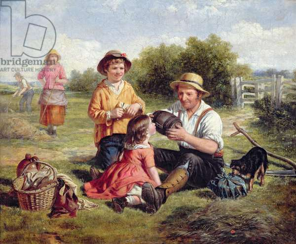 Hayfield, 1859 (oil on canvas)