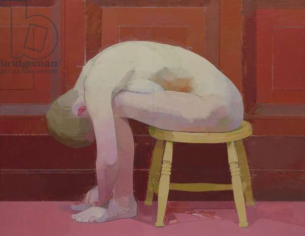 Curled Nude on Stool, 1982-83 (oil on canvas)