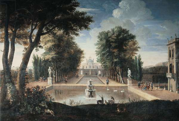 View of a Palace (oil on canvas)