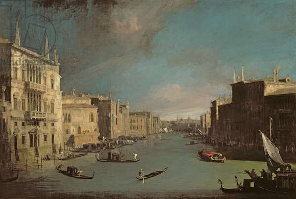 View on the Grand Canal, 1729 (oil on canvas)
