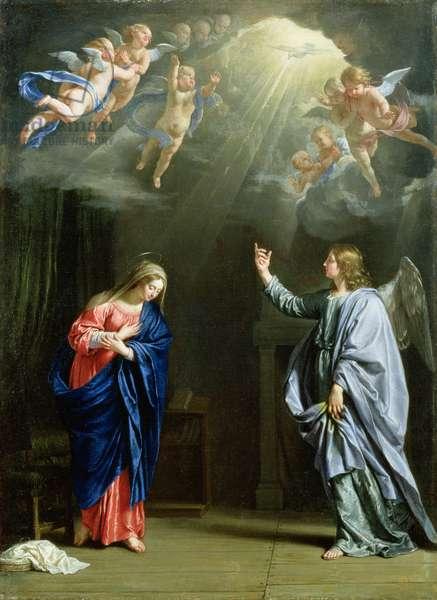 The Annunciation, 1644 (oil on canvas)