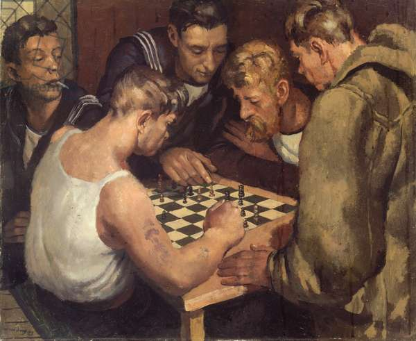 Off Watch, c.1937-45 (oil on canvas)