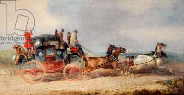 Hull and London Royal Mail, c.1835 (oil on canvas)