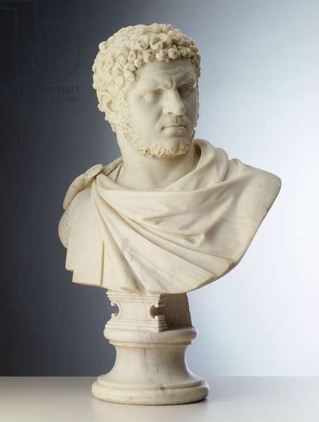 Portrait Bust of Emperor Caracalla (AD 188-217), 1758 (marble)