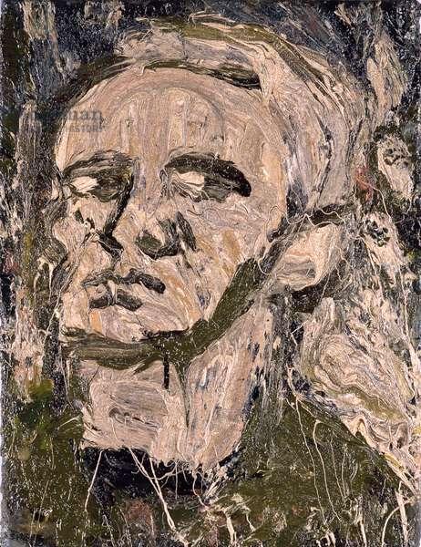 Self Portrait, c.1982 (oil on board)