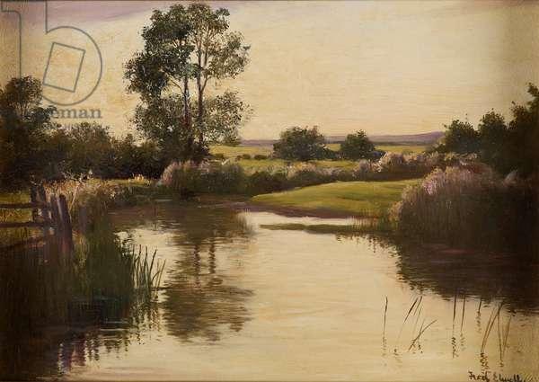 Landscape, c.1898-1902 (oil on oak panel)