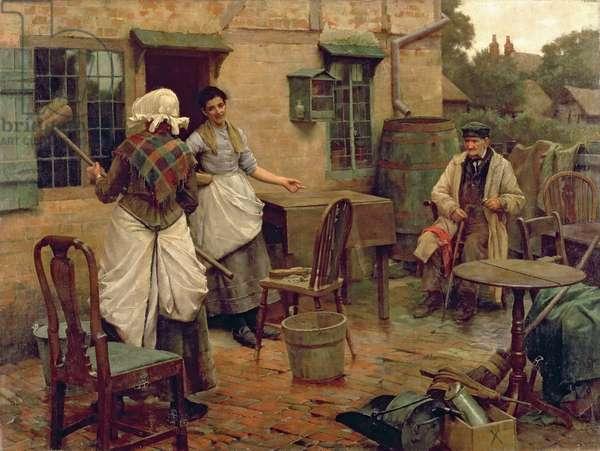 Under Petticoat Government, c.1891-2 (oil on canvas)