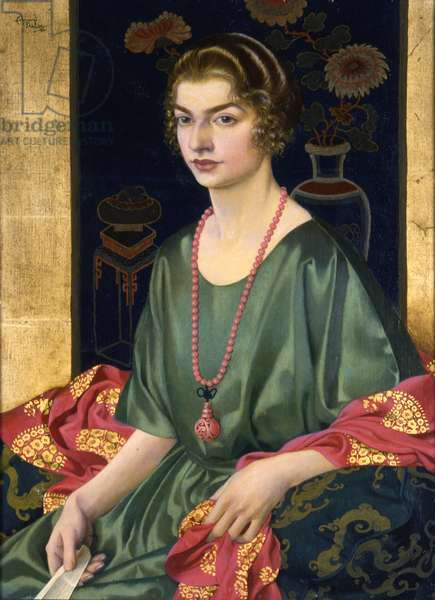 Portrait of Elizabeth Allhusen (oil on canvas on panel)