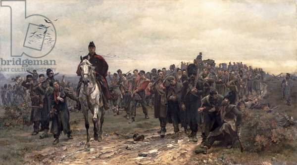 The Return from Inkerman in 1854, 1877 (oil on canvas)