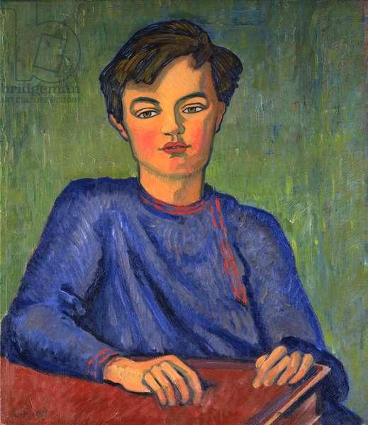 Portrait of Julian, the Artist's Son, aged 10, 1911 (oil on canvas)