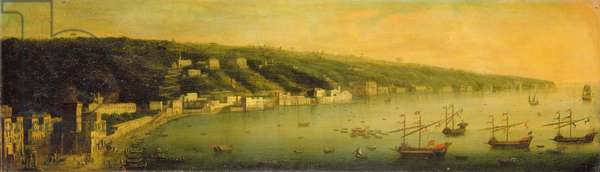 The Bay of Naples (oil on canvas)
