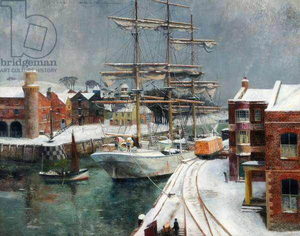 December, Work Suspended, 1940 (oil on canvas)