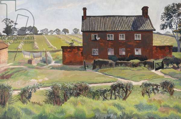 The Red House, 1926 (oil on canvas)
