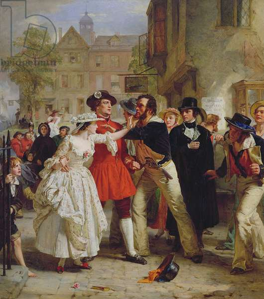 The Press Gang, 1858 (oil on canvas)