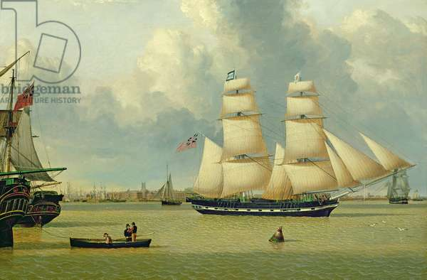 The Brig, 'Helen', off Hull, c.1837 (oil on canvas)