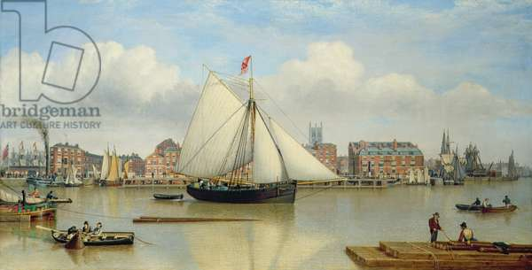 Hull from the Humber, c.1837 (oil on canvas)