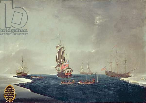 The Whaling Fleet of Sir Samuel Standidge, 1788 (oil on canvas)