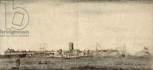 South-east View of Kingston upon Hull (pen, ink & wash on paper)