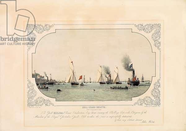 The Hull Grand Regatta, 1847 (coloured lithograph)