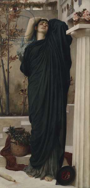 Electra at the Tomb of Agamemnon (oil on canvas)