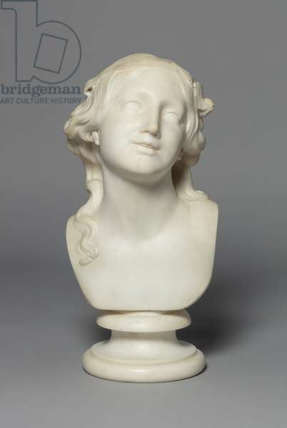 Bust of a Girl, 1849 (marble)