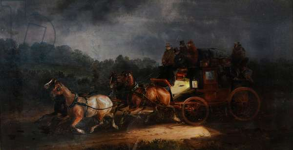 Leeds and London Royal Mail, c.1835 (oil on canvas)
