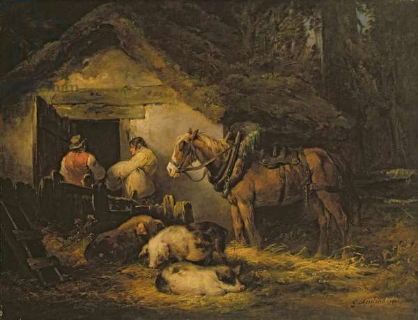 The Stable Door, 1791 (oil on canvas)