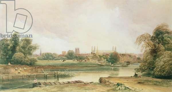 Cambridge (pencil & w/c on paper)
