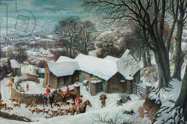 An Exmoor Farm, 1937-38 (oil on canvas)