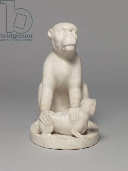 Monkey with Dog, 1500-99 (bronze)